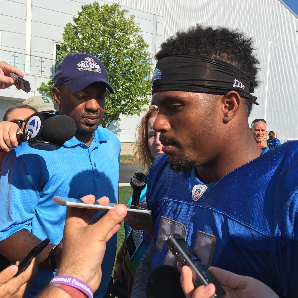Lions Jim Caldwell, Ameer Abdullah discuss Charlottesville race issues
