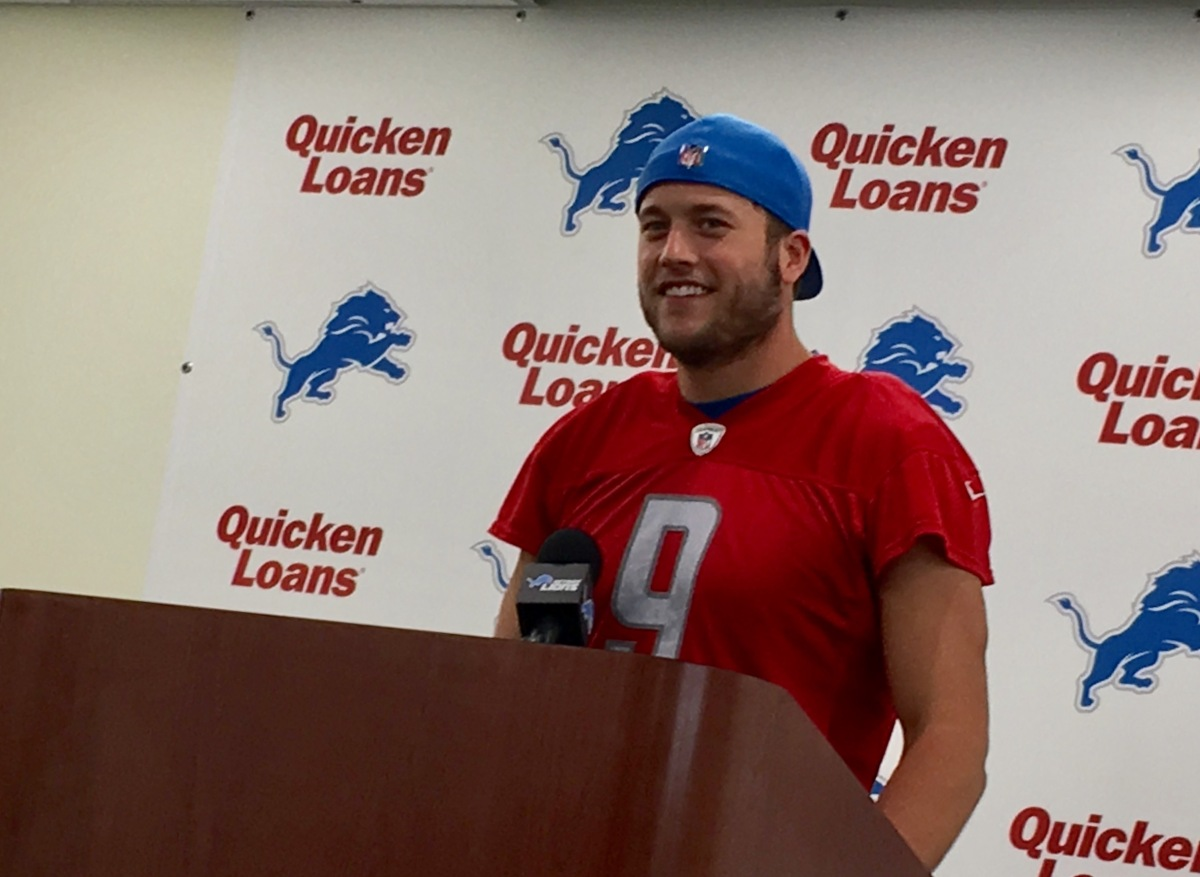 Detroit Lions Matthew Stafford's 5 thoughts on facing the Giants