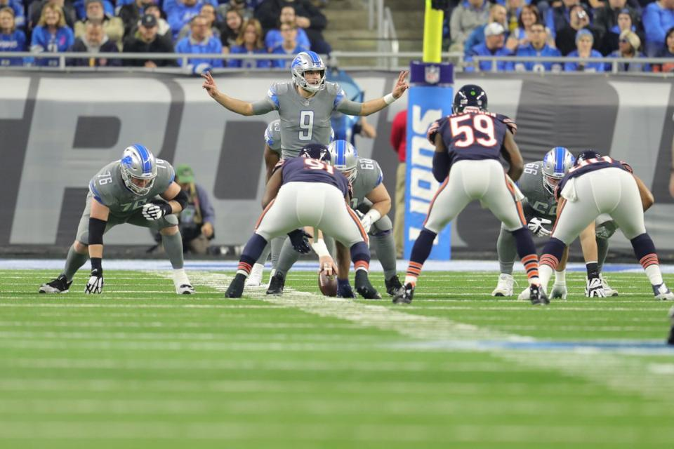 Lions offensive line adjusts for personnel depending on whostarts