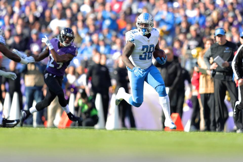 Lions rookie RB Tion Green had a debut to remember, with a TD and surprise visit from hismom