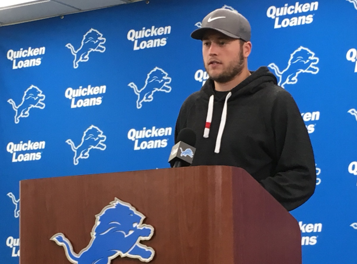 Five thoughts from Lions' Matthew Stafford early in offseason workouts