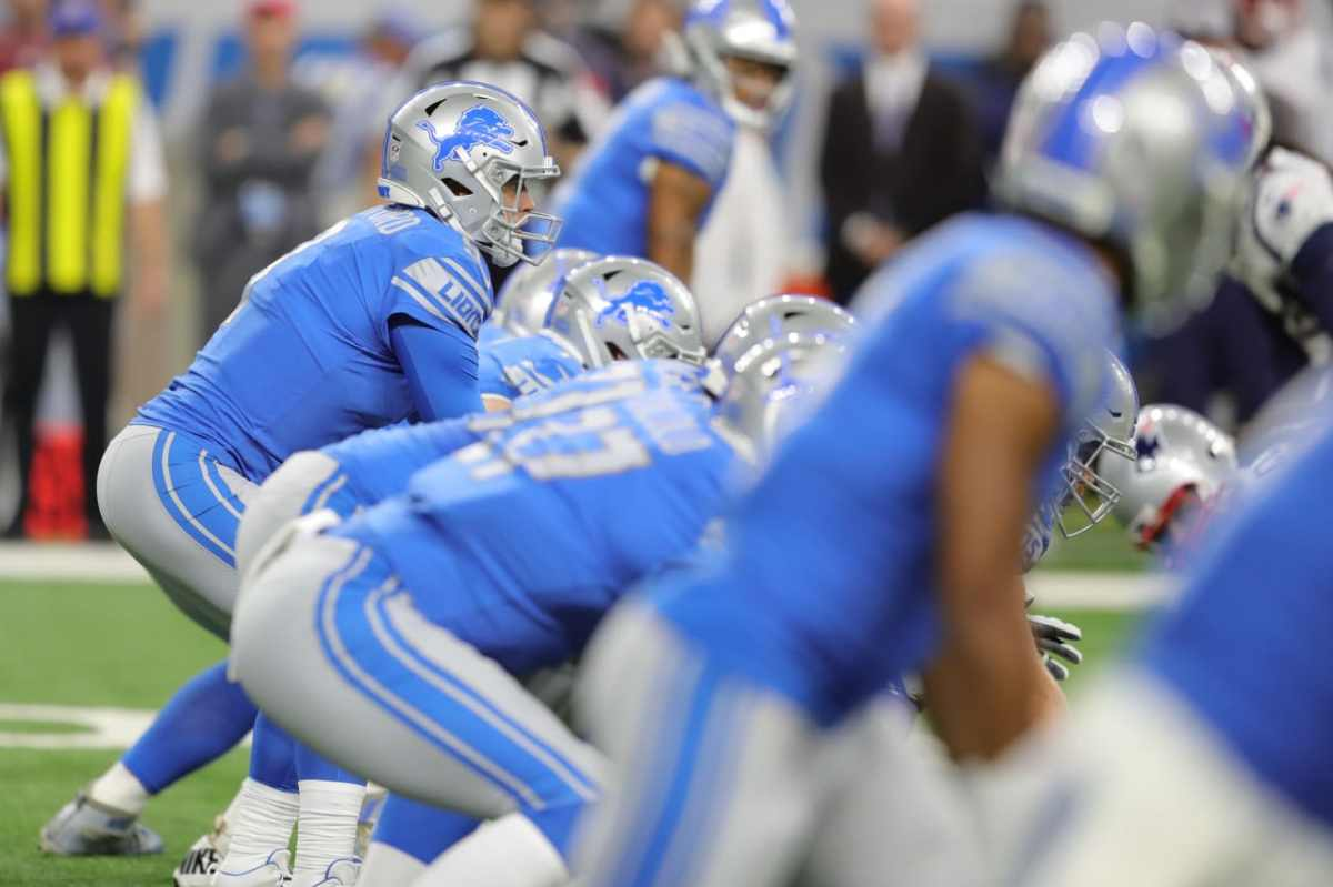 Detroit Lions' offensive line plays best game in win overPatriots