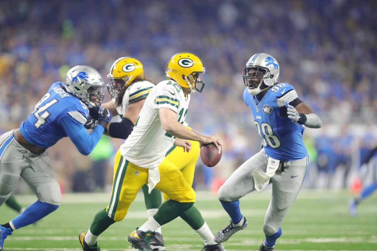 Lions prepare for Green Bay Packers, gimpy-yet-effective Aaron Rodgers