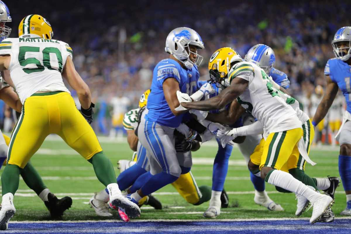 Detroit Lions wide receiver trio takes                       a certain pride in runblocking