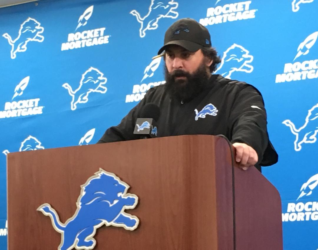 Detroit Lions coach Matt Patricia explains his outdoor snowy practice when next 4 games are indoors