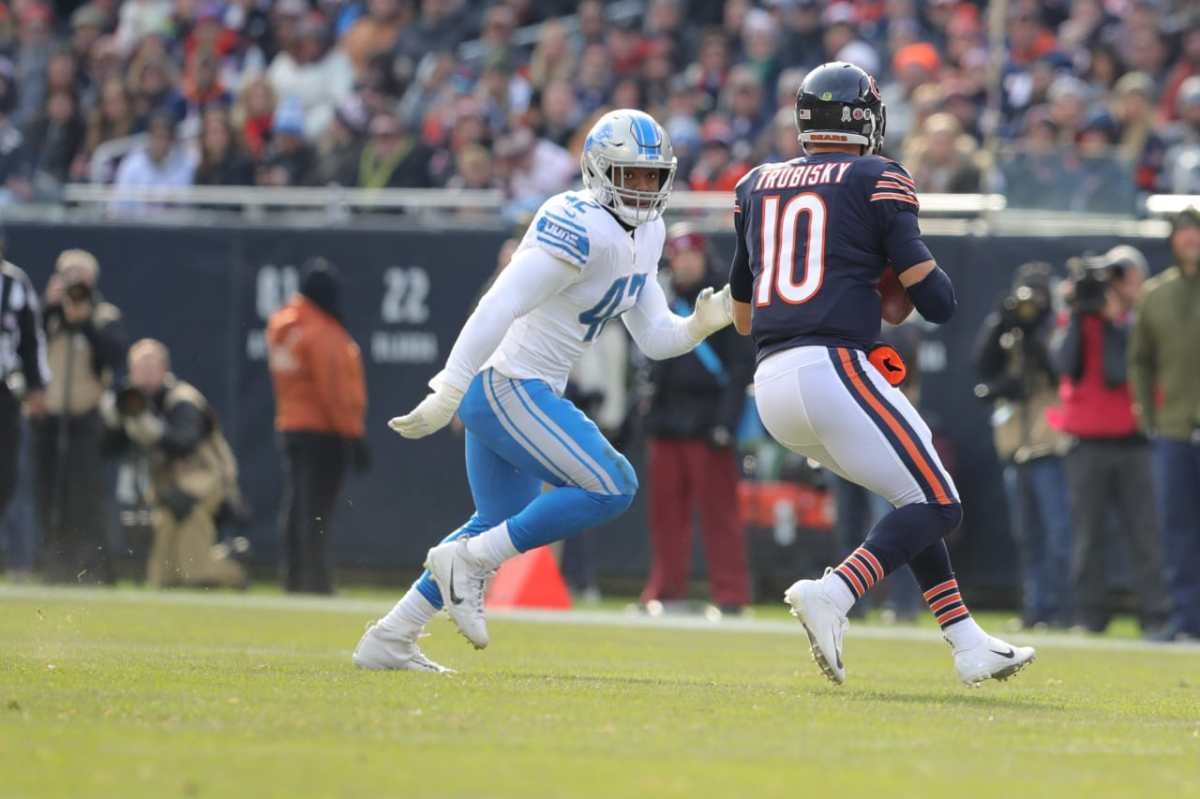 detroit lions, chicago bears, mitchell trubisky