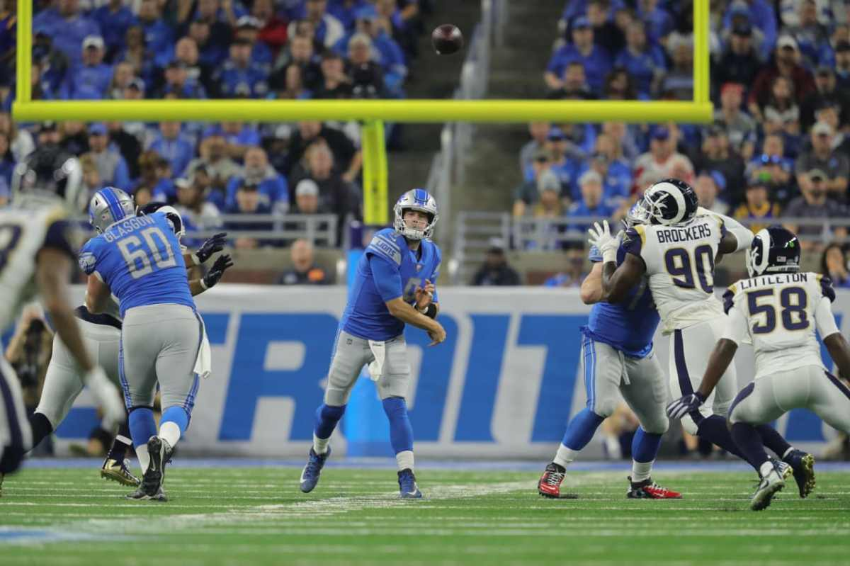 Lions LT Taylor Decker scores first touchdown in loss to Rams