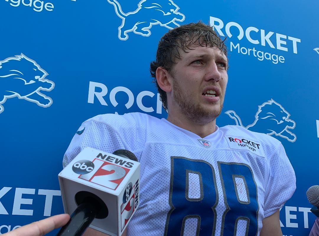 Detroit Lions rookie T.J. Hockenson