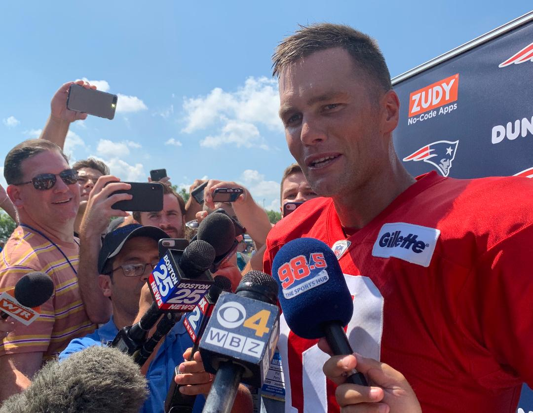 Patriots' QB Tom Brady still going strong at 42 during workout with Detroit Lions