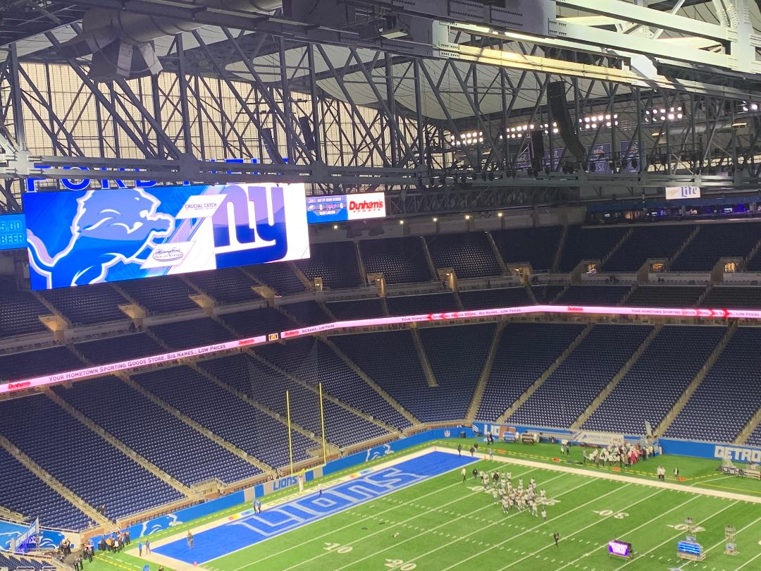 Detroit's Ford Field hours before kickoff