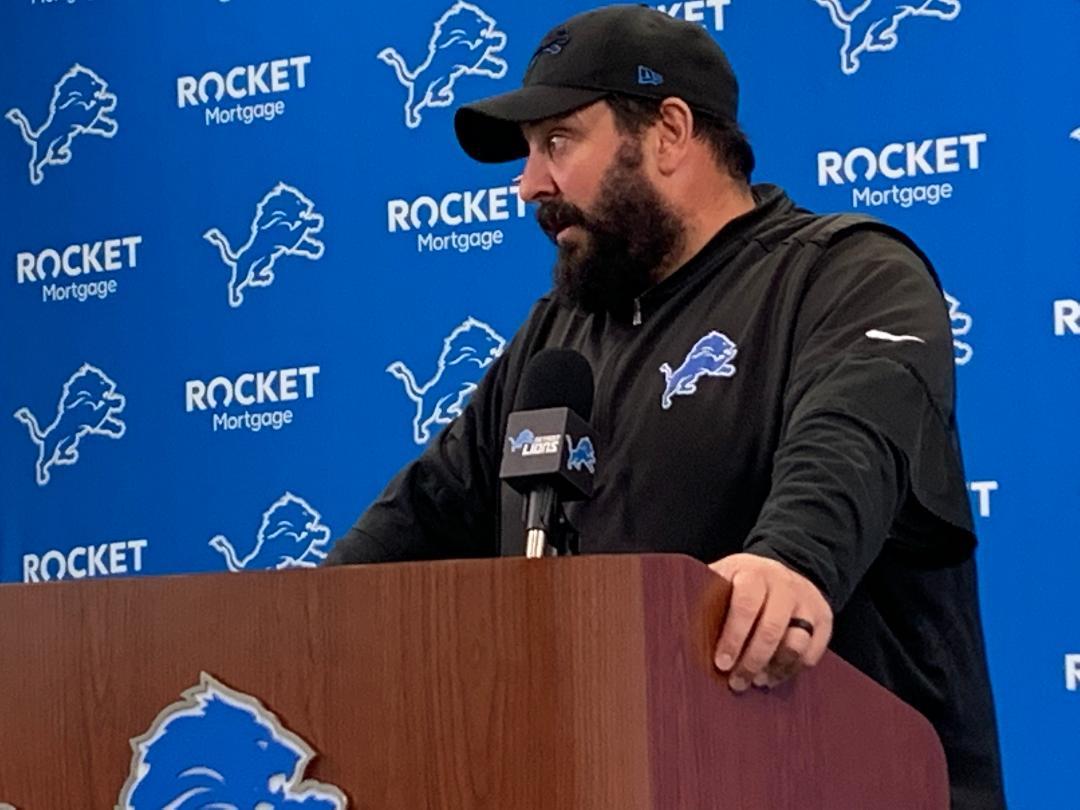 Detroit Lions coach Matt Patricia