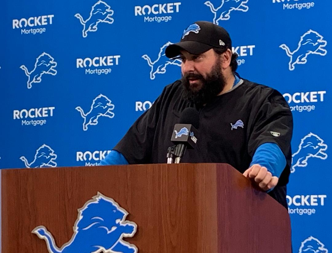 Lions Matt Patricia: We've got 2 things, the game and each other