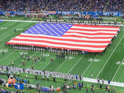 Just before the Detroit Lions' 2019 Thanksgiving game at Ford Field.